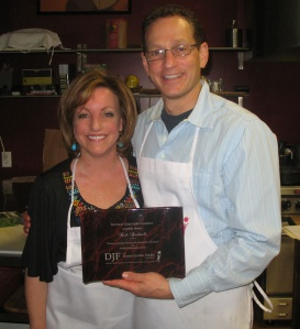 Rich receives a decade award for his volunteer service to DJF Foundation